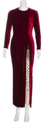Marios Schwab Embellished Velvet Gown