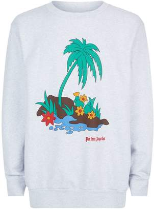 Palm Angels Oversized Island Print Sweater