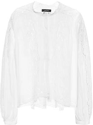 Isabel Marant Maly eyelet-lace blouse