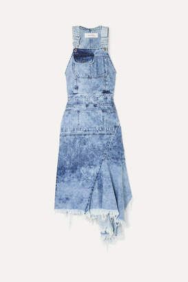 Marques Almeida Marques' Almeida - Asymmetric Cutout Denim Midi Dress - Light denim