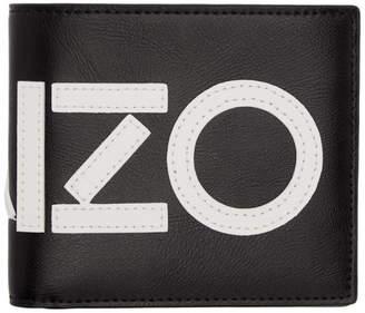 Kenzo Black Logo Bifold Wallet