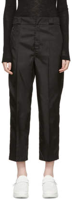Prada Black Techno Logo Trousers