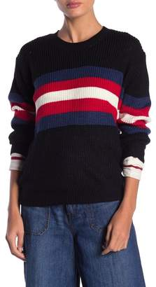 DREAMERS BY DEBUT Striped Long Sleeve Sweater