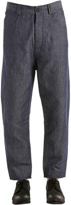 Isabel Benenato Carrot Fit Cotton & Linen Denim Jeans