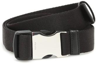 Prada Leather-trimmed canvas belt