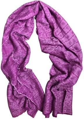 Saint Laurent Purple Cashmere Scarves
