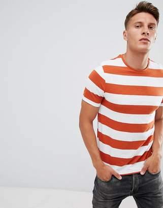 ONLY & SONS Striped T-Shirt With Stepped Hem