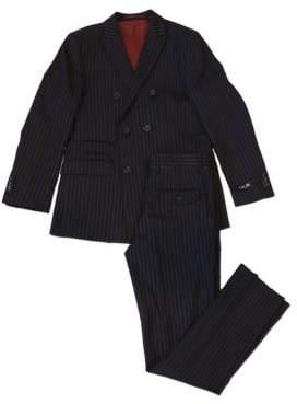 Ike Behar IKE by Two-Piece Pin Stripe Wool Blend Suit