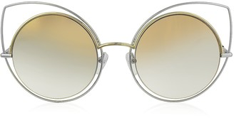 Marc Jacobs MARC 10/S TWMFQ Gold & Silver Metal Cat Eye Women's Sunglasses