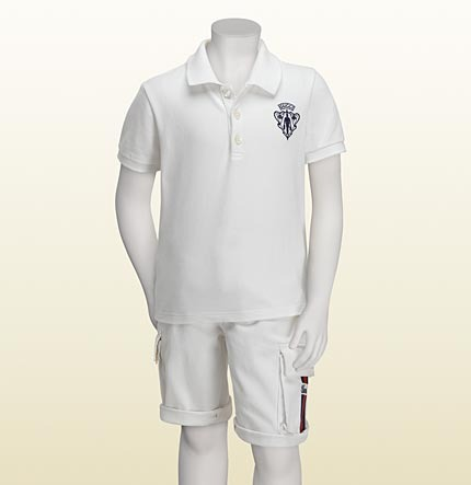 Gucci Crest Short Sleeve Polo