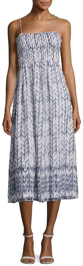 Love Sam Women's Smocked Midi Dress