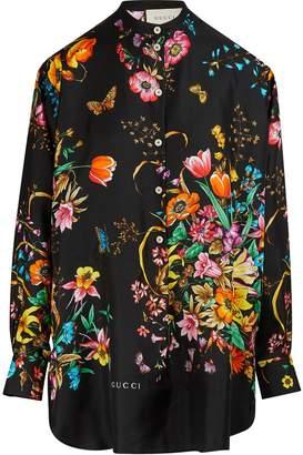 Gucci Flora silk shirt