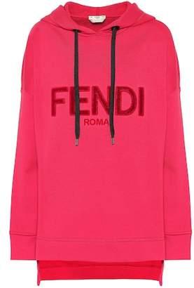Fendi Logo cotton-blend hoodie