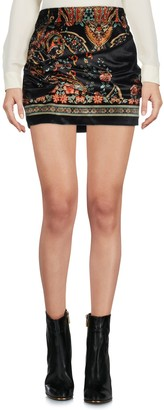 Black Coral Mini skirts
