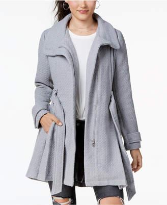 Madden-Girl Juniors' Textured Belted Wrap Coat