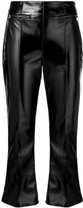 Elisabetta Franchi faux vinyl trousers