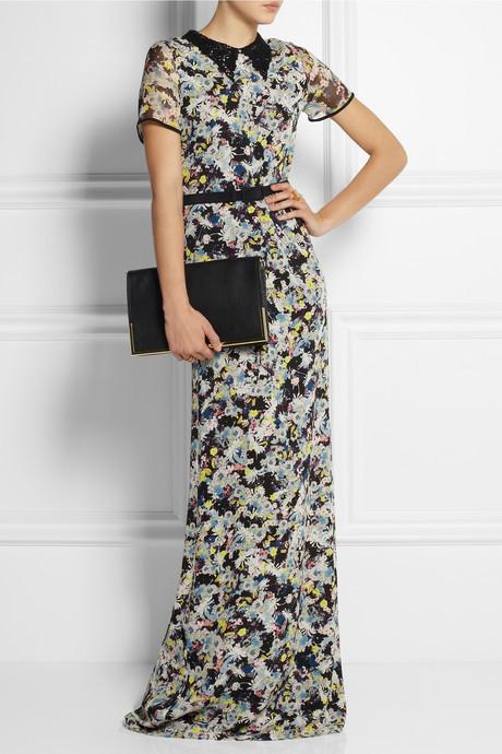 Erdem Fern floral-print silk-crepe gown