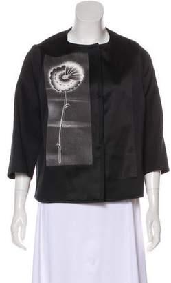 Prada Wool-Blend Graphic Jacket