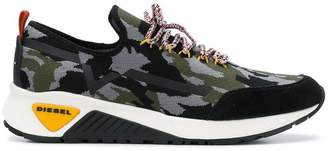 Diesel camouflage scuba sneakers