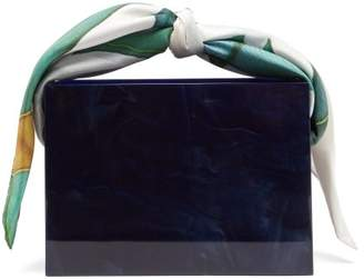 Montunas Guaria Mini Leaf Print Box Bag - Womens - Navy