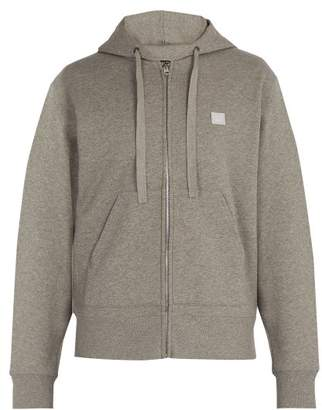 Acne Studios Ferris Face Hooded Cotton Sweatshirt - Mens - Grey
