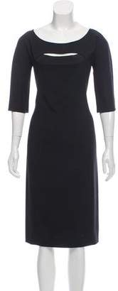 Narciso Rodriguez Silk Blend Cutout Dress