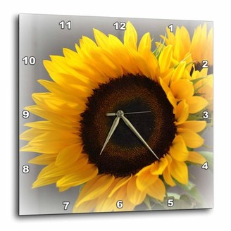 3dRose Yellow Sunflower Delight- Autumn Flowers- Photography, Wall Clock, 13 by 13-inch