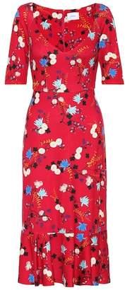 Erdem Glenys floral ponte jersey dress