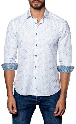 Men's Jared Lang Dobby Stripe Sport Shirt $149 thestylecure.com