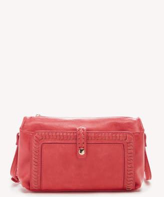 Sole Society Women's Vulin Crossbody Vegan Bag Leather Poppy Vegan Leather From