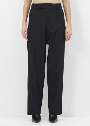 Vetements black baggy suit pants $1,265 thestylecure.com