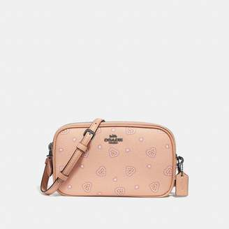 Coach Crossbody Clutch With Western Heart Print