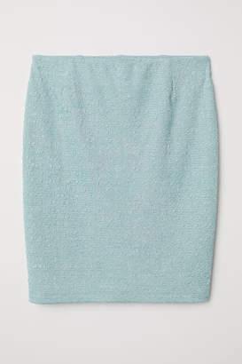 H&M Jacquard-knit Skirt - Turquoise