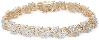 Macy's Diamond Cluster Bracelet (5 ct. t.w.) in 10k Gold