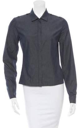 Prada Sport Zip-Front Chambray Jacket