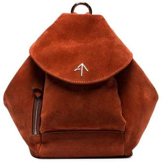 Atelier Manu Brown Mini Fernweh Suede Shoulder Bag