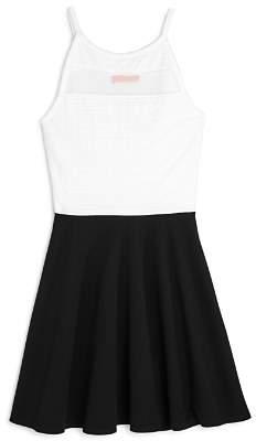 Aqua Girls' Mesh-Cutout Color-Block Dress, Big Kid - 100% Exclusive