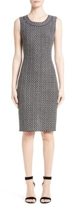 Women's St. John Collection Lela Tweed Knit Dress $895 thestylecure.com