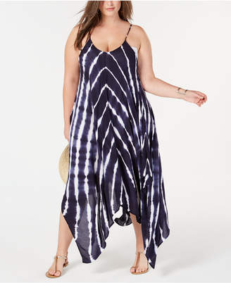 Raviya Plus Size Tie-Dyed Maxi Cover-Up Women Swimsuit