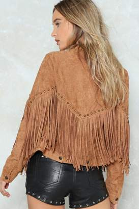 Nasty Gal Life's a Rodeo Fringe Jacket