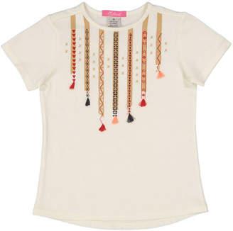 E Land Girls' Tassel T-Shirt
