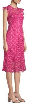 Elie Tahari Florance Lace Midi Dress