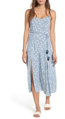 Love, Fire Floral Print Maxi Dress