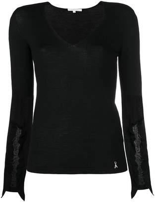 Patrizia Pepe sheer detail sweater