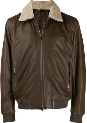 Corneliani shearling collar bomber jacket
