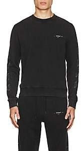 Off-White Men's Logo-Print Cotton Terry Sweatshirt - Black