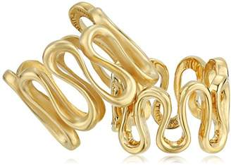 Trina Turk Gold Rush Wavy Set of Two Ring