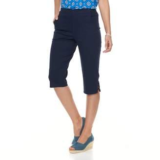 Croft & Barrow Women's Lace-Up Hem Skimmer Capris
