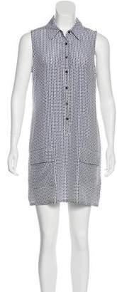 Equipment Geometric Mini Shift Dress