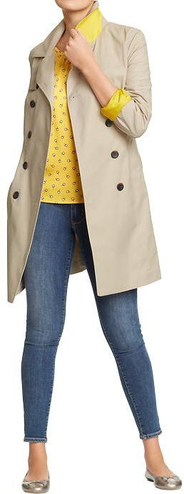 Old Navy Women's Canvas Trench Coats
